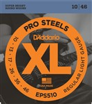 D'Addario EPS510 XL Pro Steels Electric, Regular Light, 10-46