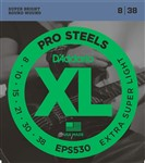 D'Addario EPS530 XL Pro Steels Electric, Extra Light, 8-38