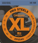 D'Addario EPS540 XL Pro Steels Electric, Light Top Heavy Bottom, 10-52