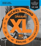 D'Addario ESXL110 Double Ball End Nickel (10-46)
