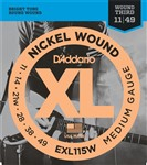 D'Addario EXL115W Blues/Jazz Rock Wound 3rd (11-49)