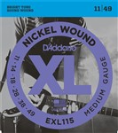 D'Addario EXL115 Nickel Jazz/Blues Rock (11-49)