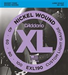 D'Addario EXL190 Custom Light (40-100)