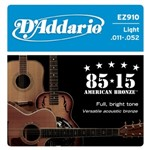 D'Addario EZ910 Great American Bronze 85/15 Light (11-52)