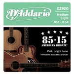 D'Addario EZ920 Great American Bronze 85/15 Medium Light 12-54)