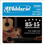 D'Addario EZ940 Great American Bronze 85/15 12 String (10-50)