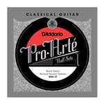 D'Addario BNN-3T Pro-Arte Black Nylon Treble Half Set, Normal Tension