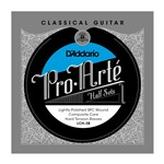 D'Addario LCH-3B Pro-Arte Composite Lightly Polished Silver Bass, Half Set, Hard Tension