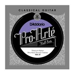 D'Addario TNH-3T Pro-Arte Titanium Nylon Treble Half Set (Hard Tension)