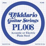 D'Addario PL008 Single Plain Steel String (.008)