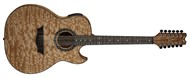 Dean Exhibition Quilt Ash with Aphex 12-String (Gloss Natural)