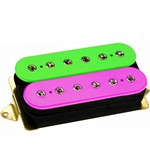DiMarzio DP159F Evolution Humbucker Pickup, F-Spaced, Bridge, Pink/Green
