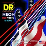 DR Strings NUSAE-9  K3™ Neon?™ Hi-Def© Red, White & Blue Electric Strings Lite (9-42)
