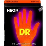 DR Strings NOE-9 Neon Series Electric Orange (9-42)