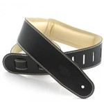 DSL GEG25 Garment Leather Strap, Black/Beige