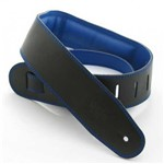 DSL GEG25 Garment Leather Strap, Black/Blue
