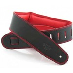 DSL GEG25 Garment Leather Strap, Black/Red