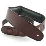 DSL Garment Leather Strap (Brown On Black, GEG25-17-1)