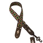 DSL JAC20 Jacquard Strap, Black/Yellow/Green/Red