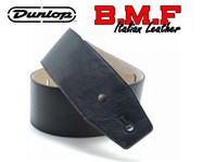 Dunlop BMF Italian Leather Strap, 3.5 Inch, Triple Black