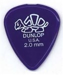 Dunlop 41P Delrin 500 Standard Picks, 2mm, 12 Pack