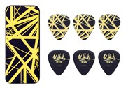 Dunlop EVHPT04 EVH Max-Grip Pick Tin (Black & Yellow Frankenstein)