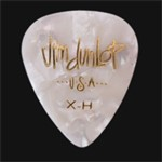 Dunlop Genuine Celluloid 12 Pick Pack (White Pearloid, Extra Heavy)