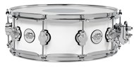 DW Design Series snare, white