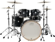 DW Design Series 5 Piece Shell Pack (Black Satin Lacquer)