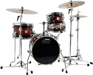 DW Design Series Mini-Pro 4 Piece Shell Pack (16/12in, Tobacco Burst)