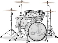 DW Design Series Seamless Acrylic 5 Piece Shell Pack, Clear
