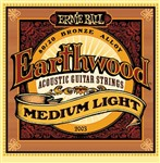 Ernie Ball 2003 Earthwood 80/20 Bronze Acoustic, Medium Light, 12-54