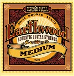 Ernie Ball 2002 Earthwood 80/20 Bronze Acoustic, Medium, 13-56