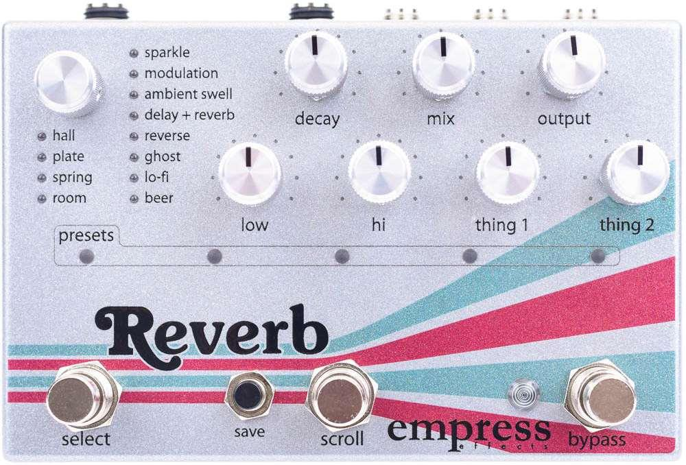 Empress Effects Reverb Pedal Top