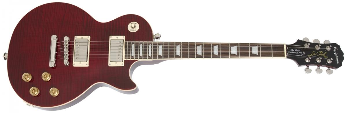 Epiphone Les Paul Tribute Plus in Black Cherry