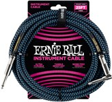 Ernie Ball Instrument Cable 25ft Black/Blue Front