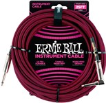 Ernie Ball Instrument Cable 25ft Black/Red Front