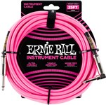 Ernie Ball Instrument Cable 25ft Neon Pink Front