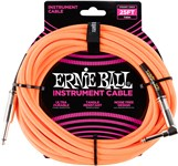 Ernie Ball Instrument Cable 25ft Neon Orange Front