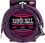 Ernie Ball Instrument Cable 25ft Black Purple Main