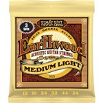 Ernie Ball 3003 Earthwood 80/20 Bronze Acoustic, Medium Light, 12-54, 3 Pack
