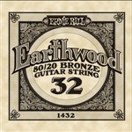 Ernie Ball 1432 Earthwood 80/20 Bronze Acoustic Single String, 32