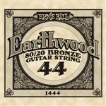Ernie Ball 1444 Earthwood 80/20 Bronze Acoustic Single String, 44