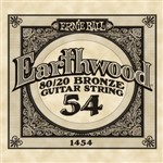 Ernie Ball 1454 Earthwood 80/20 Bronze Acoustic Single String, 54