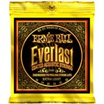 Ernie Ball 2560 Everlast Coated 80/20 Bronze Acoustic, Extra Light, 10-50