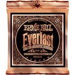 Ernie Ball 2544 Everlast Coated Phosphor Bronze Acoustic, Medium, 13-56