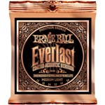 Ernie Ball 2546 Everlast Coated Phosphor Bronze Acoustic, Medium Light, 12-54
