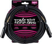 Ernie Ball Microphone Cable 25ft Black Front