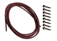 Evidence Audio SIS1 Solderless Pedal Board Cable Kit, Burgundy
