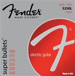 Fender 3250L Nickel-Plated Steel Super Bullet Strings 9-42